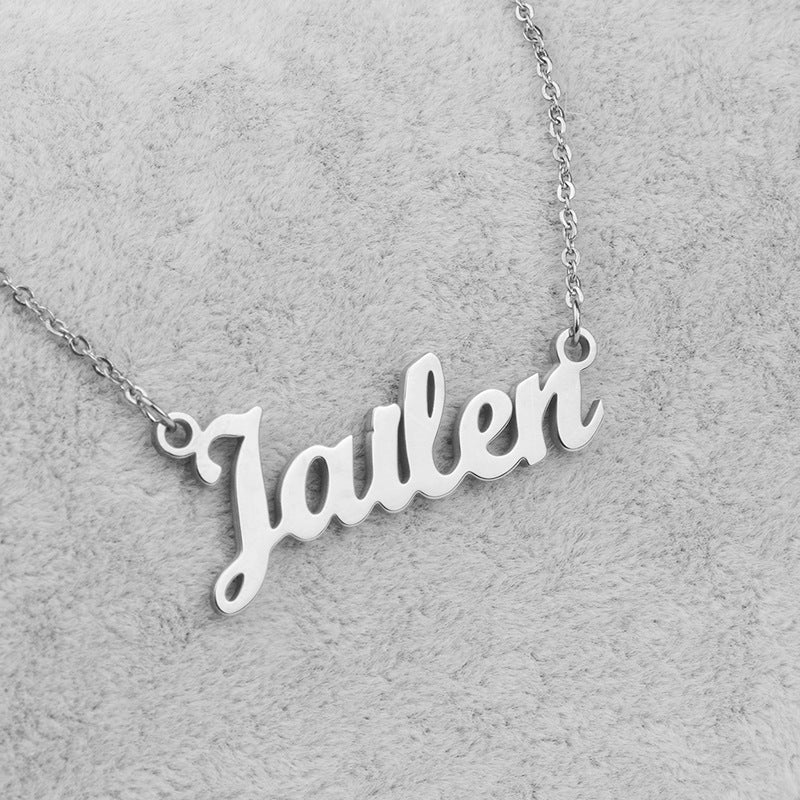 Bridesmaid Gifts Personalised Name Necklace Custom Name Plate Necklace Bridesmaid Name Necklace - urweddinggifts