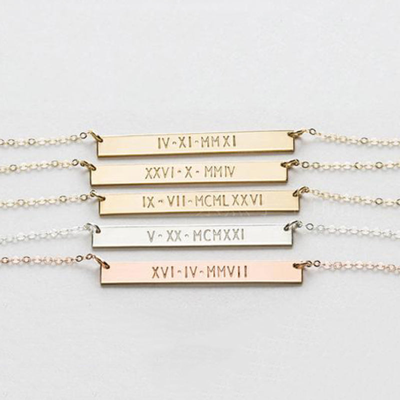 Bridesmaid Gifts Personalized Bar Bracelet Customized Skinny Bar Bracelet Engraved Coordinates Bracelet - urweddinggifts
