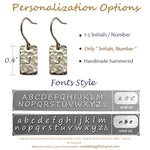 Bridesmaid Gifts Personalized Bar Earrings Engraved Initials Bar Earrings Bar Stud Earrings - urweddinggifts