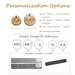 Bridesmaid Gifts Personalized Coin Necklace Engraved Disk Initial Necklace Monogram Circle Necklace - urweddinggifts