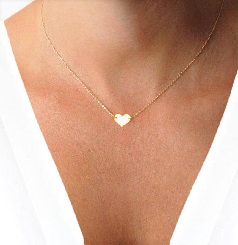 Bridesmaid Gifts Personalized Heart Necklace Custom Necklace Gold Dainty Heart Necklace - urweddinggifts