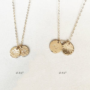 Bridesmaid Gifts Personalized Initial Necklace Circle Disc Charm Necklace Monogram Pendant Necklace - urweddinggifts