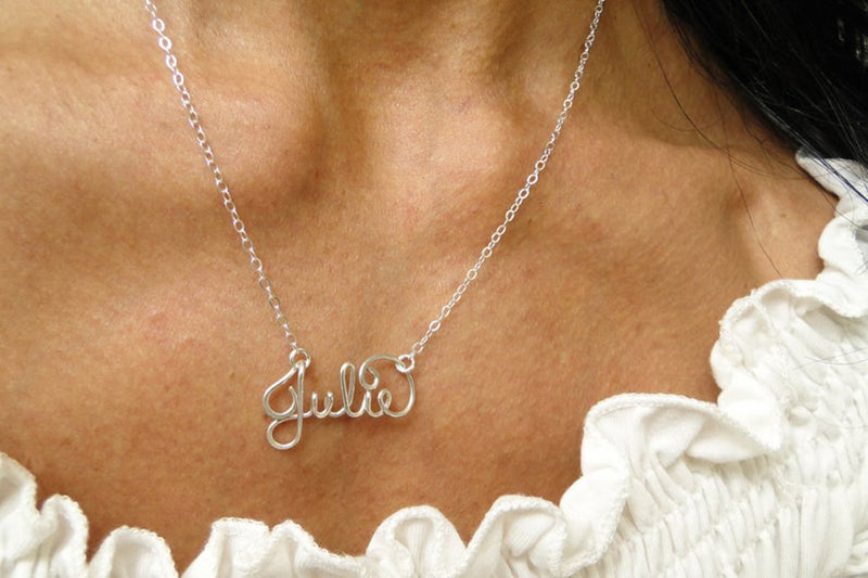 Bridesmaid Gifts Personalized Name Necklace Custom Name Necklace Handcrafted Necklace Handmade Name Necklace - urweddinggifts