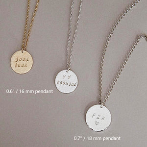 Bridesmaid Gifts Personalized Necklace Engraved Pendant Necklace Monogram Charm Necklace - urweddinggifts