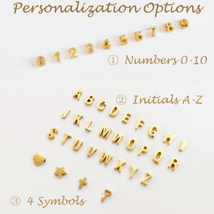 Bridesmaid Gifts Personalized Number Charm Necklace Custom Initial Charm Necklace Number Necklace - urweddinggifts
