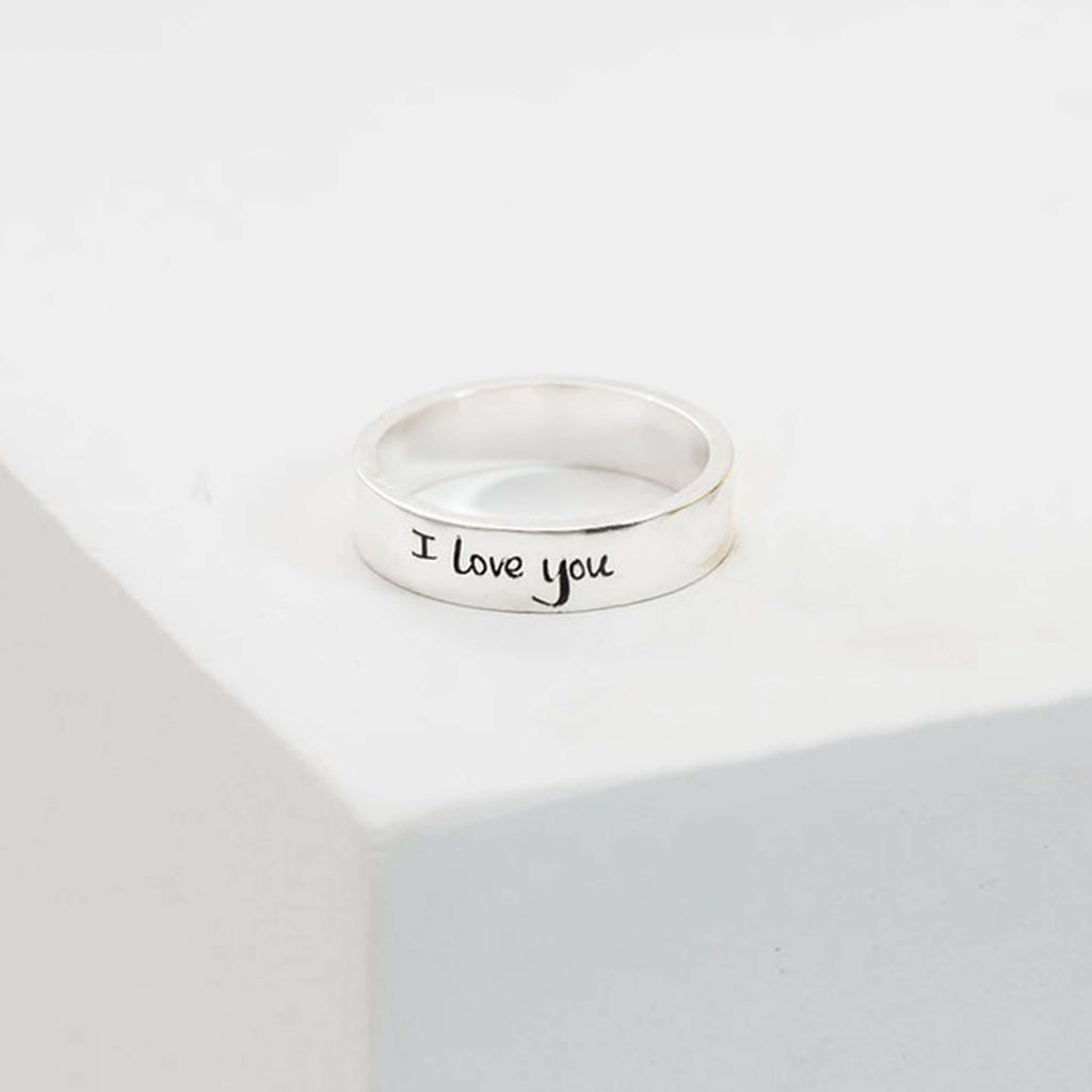 Bridesmaid Gifts Personalized Ring Name Ring Custom Messsage Ring Unisex Ring - urweddinggifts