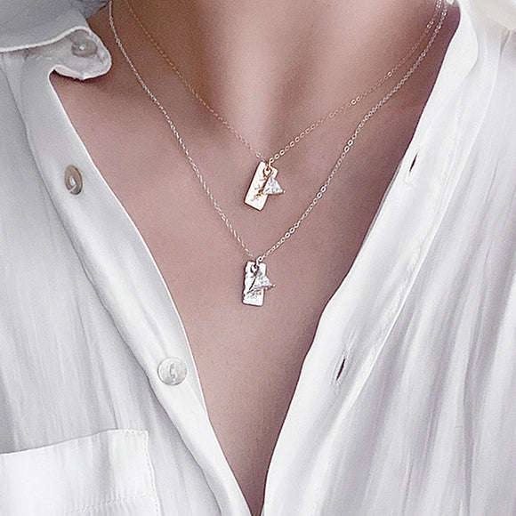 Bridesmaid Gifts Personalized Vertical Bar Necklace Engraved Zirconia Bar Necklace Custom Bar Necklace - urweddinggifts