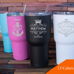 Bridesmaid Gifts Personalized Wedding Tumbler Custom Bridesmaid Tumbler Engraved Wine Tumbler Bridesmaid Proposal Gifts - urweddinggifts