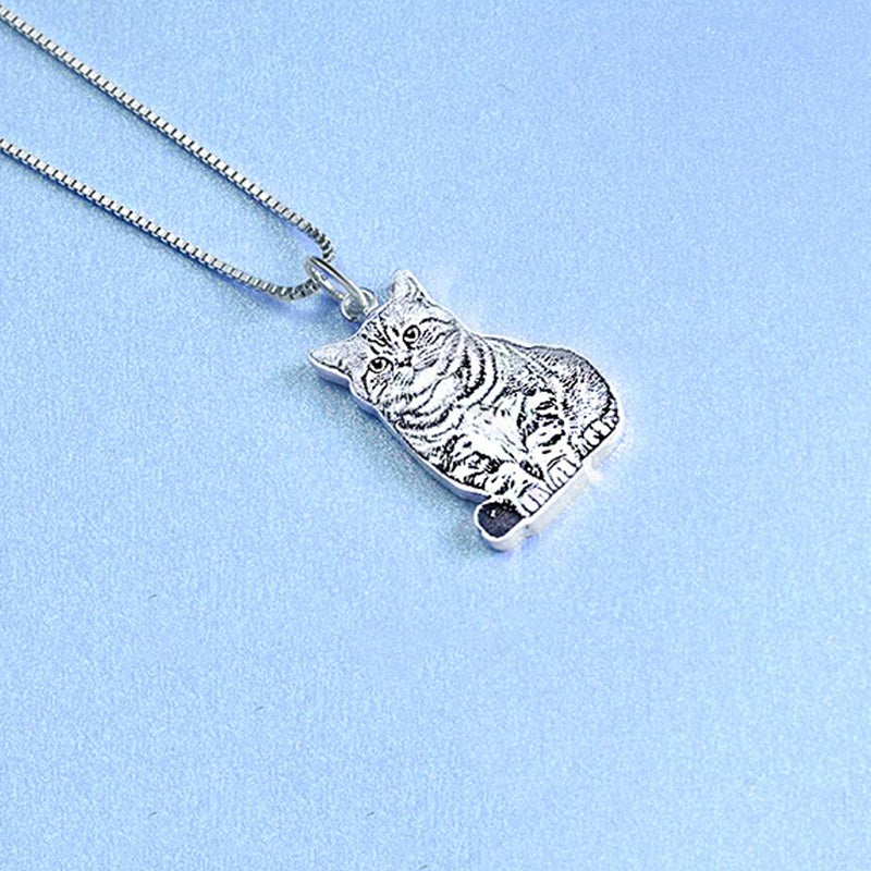 Bridesmaid Gifts Pet Photo Necklace Picture Necklace Personalized Cat Necklace Custom Dog Necklace - urweddinggifts