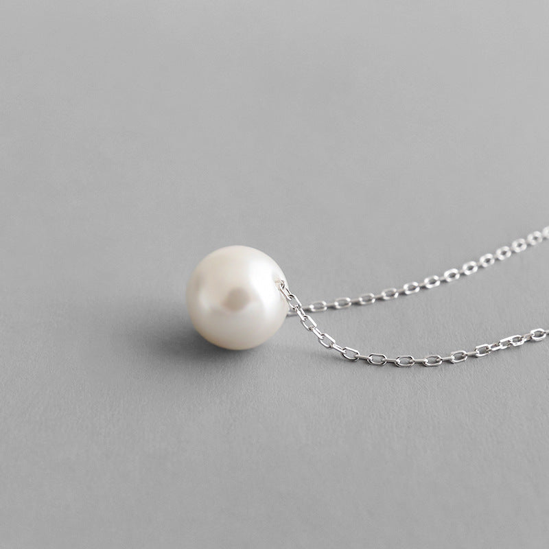 Bridesmaid Gifts Simple Pearl Necklace Dainty Pearl Necklace Single Pearl Necklace Everyday Necklace - urweddinggifts