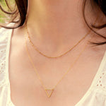 Bridesmaid Gifts Small Triangle Necklace Floating Triangle Necklace Delicate Necklace - urweddinggifts