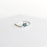Bridesmaid Gifts Star Ring Sterling Silver Dainty Ring Celestial Jewelry Celestial Ring Delicate Ring - urweddinggifts