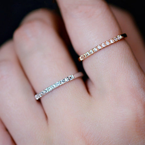Bridesmaid Gifts Zirconia Ring Custom Dainty Ring Stackable Ring Minimalist Ring Statement Ring - urweddinggifts