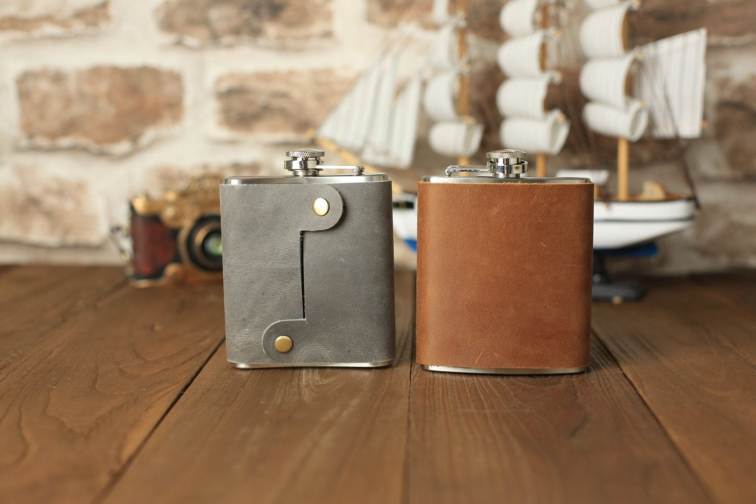 Groomsmen Gift Customized Flask Personalized Leather Flask Engraved Flask Best Man Gift - urweddinggifts