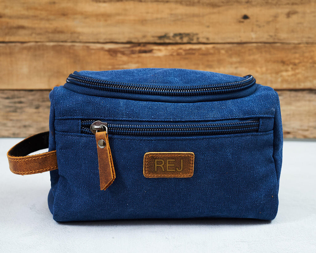Groomsmen Gifts Engraved Toiletry Bag Personalized Dopp Kit Monogrammed Usher Gift - urweddinggifts