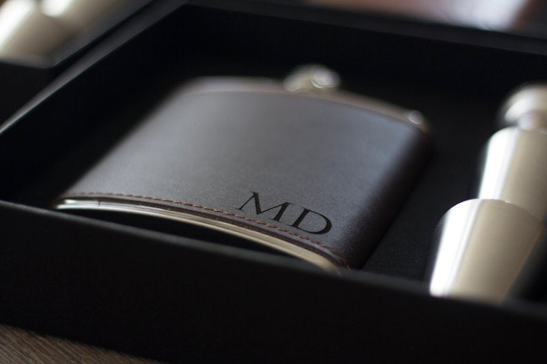 Groomsmen Gift Monogram Flask Proposal Groomsmen Flask Custom Best Man Gift Engraved Usher Gift - urweddinggifts