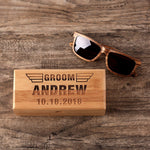 Groomsmen Gift Monogram Sunglasses Personalized Wood Sunglasses Engraved Wedding Gifts - urweddinggifts