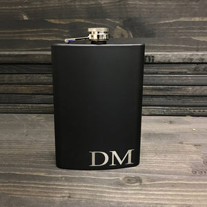 Groomsmen Gift Personalized Groomsmen Flask Monogram Flask Engraved Best Man Gift - urweddinggifts