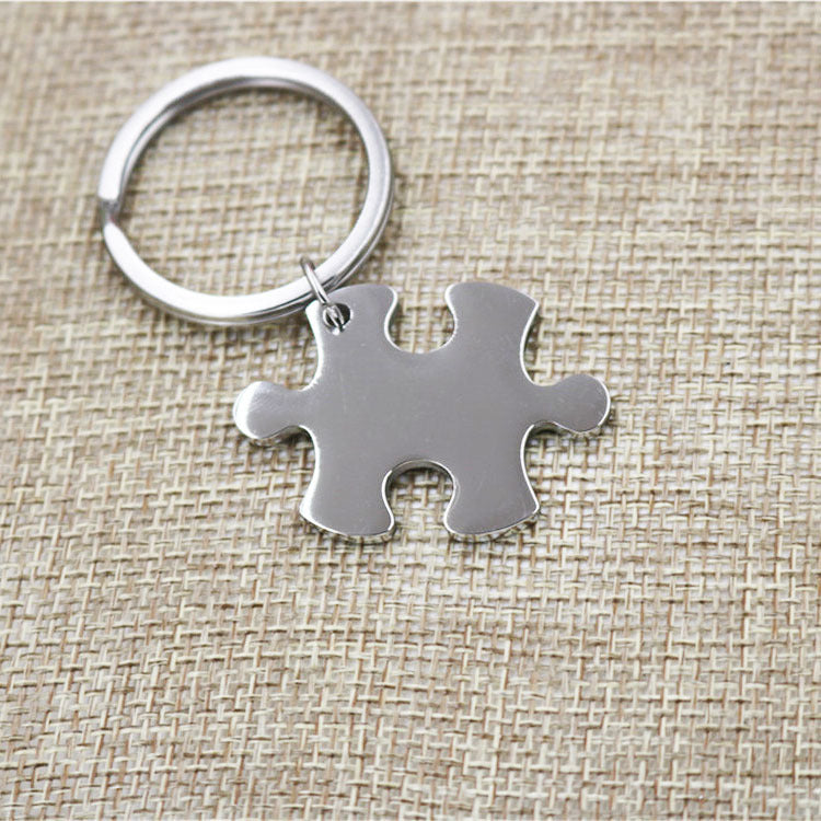 Groomsmen Gift Personalized Key Chain Custom Puzzle Key Chain Engraved Groomsmen Gift Monogram Usher Gift - urweddinggifts