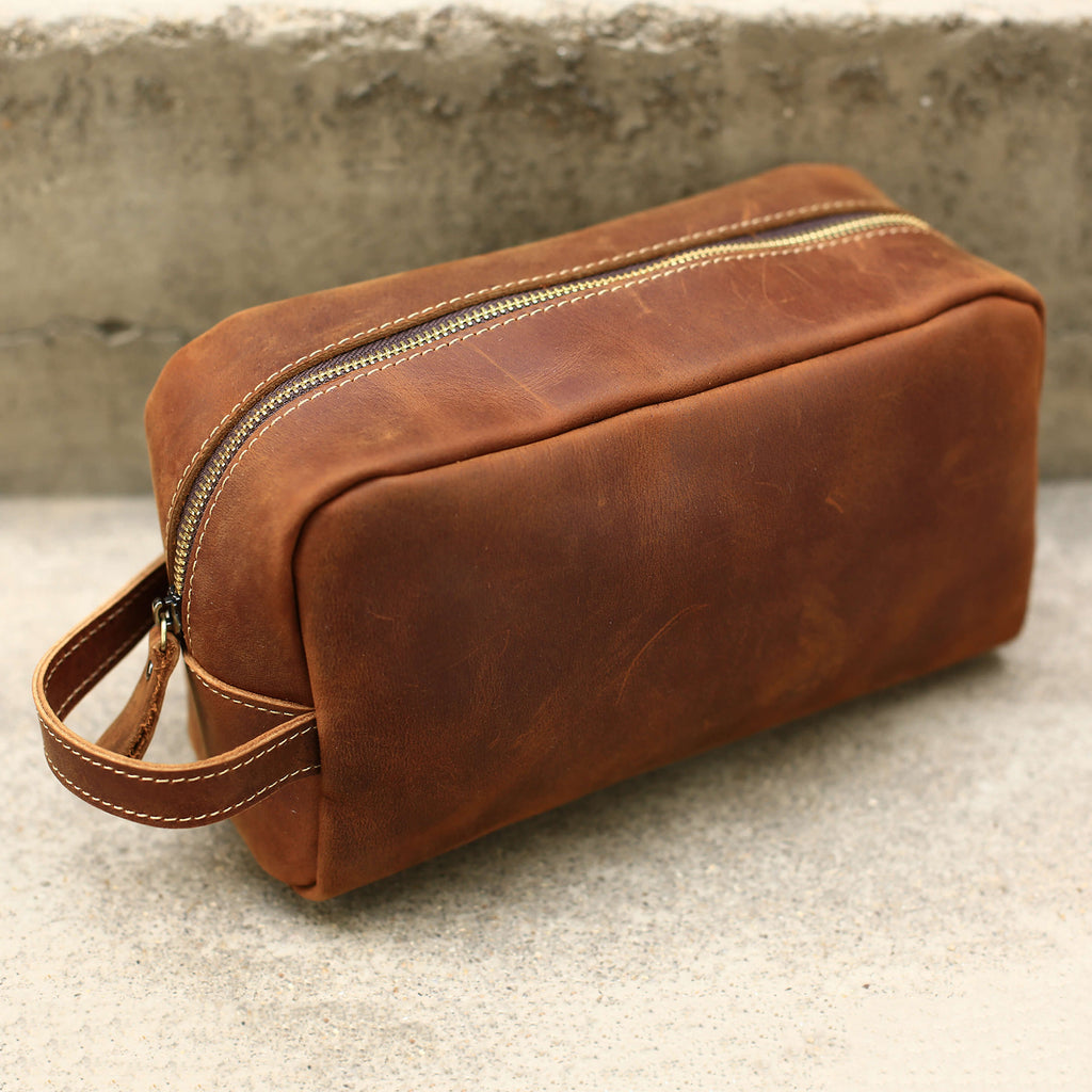 Groomsmen Gifts Personalized Leather Toiletry Bag Monogram Best Man Gift Custom Usher Gift Groomsmen Dopp Kit - urweddinggifts