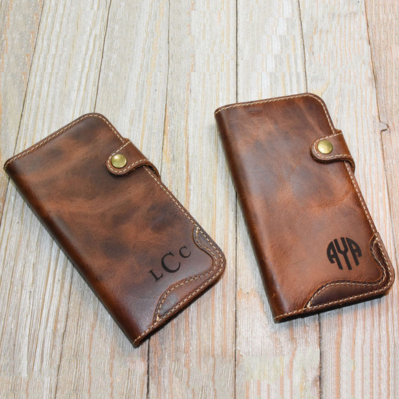 Groomsmen Gift Personalized Leather iPhone Case Custom iPhone Holder Monogram Groomsmen Gifts Engraved Wedding Gift - urweddinggifts