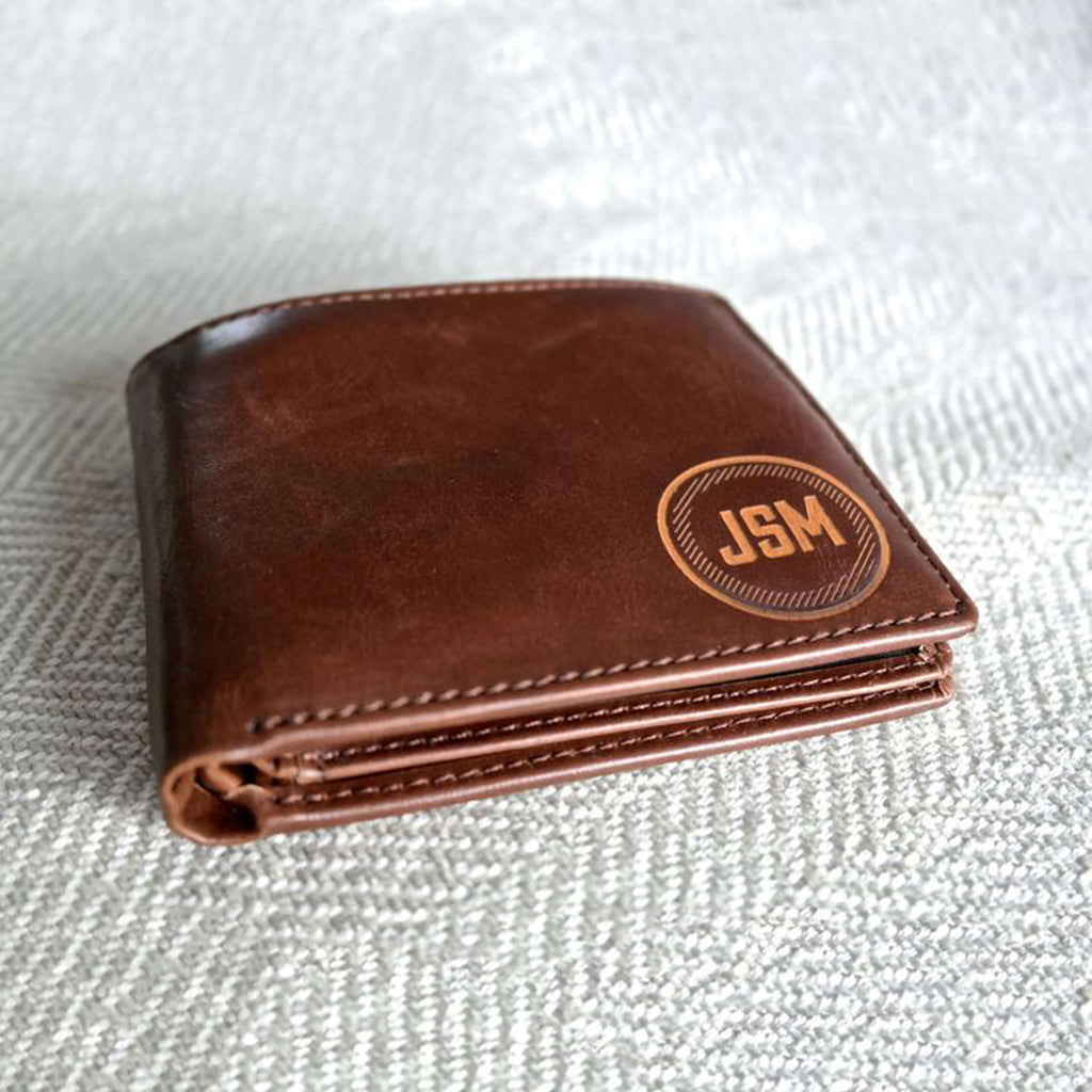 Groomsmen Gift Personalized Men Wallet Monogrammed Wallet Engraved Groomsmen Gifts Custom Best Man Gift - urweddinggifts