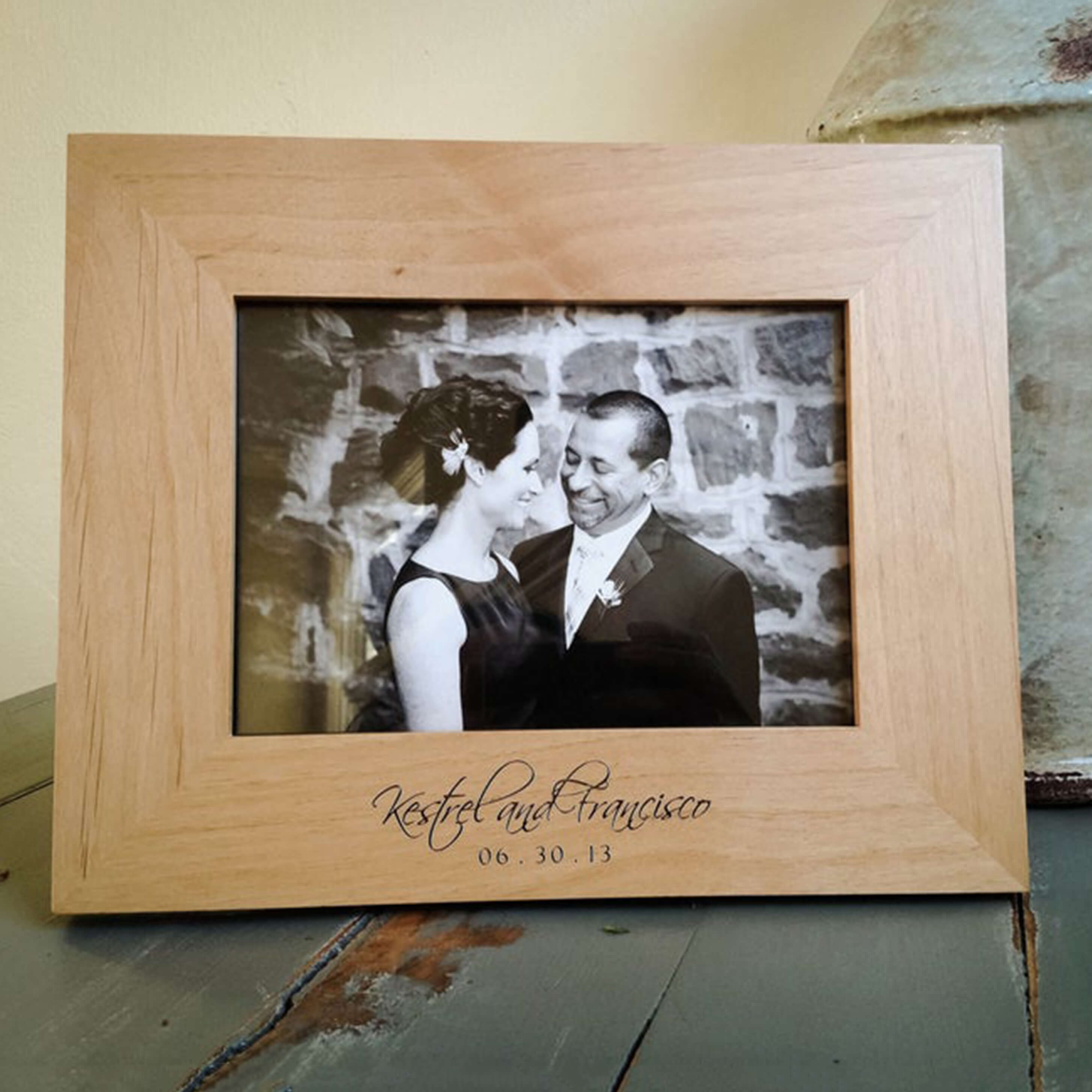 Groomsmen Gift Personalized Wood Frame Engraved Picture Frame Monogrammed Groomsmen Gifts Custom Wedding Gift - urweddinggifts