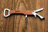 Groomsmen Gifts Personalized Wooden Corkscrew Engraved Bottle Opener Usher Gift - urweddinggifts
