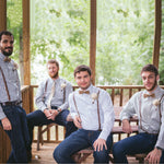 Groomsmen Gifts Custom Groomsmen Suspenders Personalized Leather Suspenders Mens Wedding Suspenders - urweddinggifts