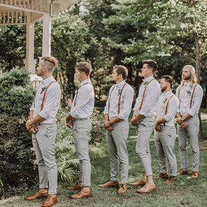 Groomsmen Gifts Custom Leather Suspenders Personalized Groomsmen Suspenders Wedding Suspenders - urweddinggifts
