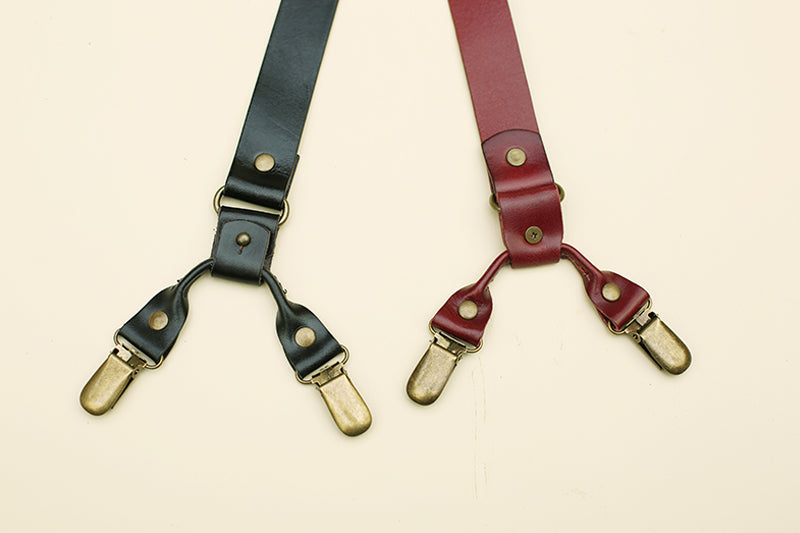 Groomsmen Gifts Custom Wedding Suspenders Leather Groomsmen Suspender Three Colors Optional Suspenders - urweddinggifts