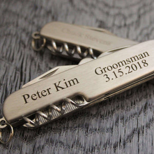 Groomsmen Gifts Engraved Bottle Opener Personalized Bottle Opener Corkscrew Custom Corkscrew Wedding Gifts - urweddinggifts