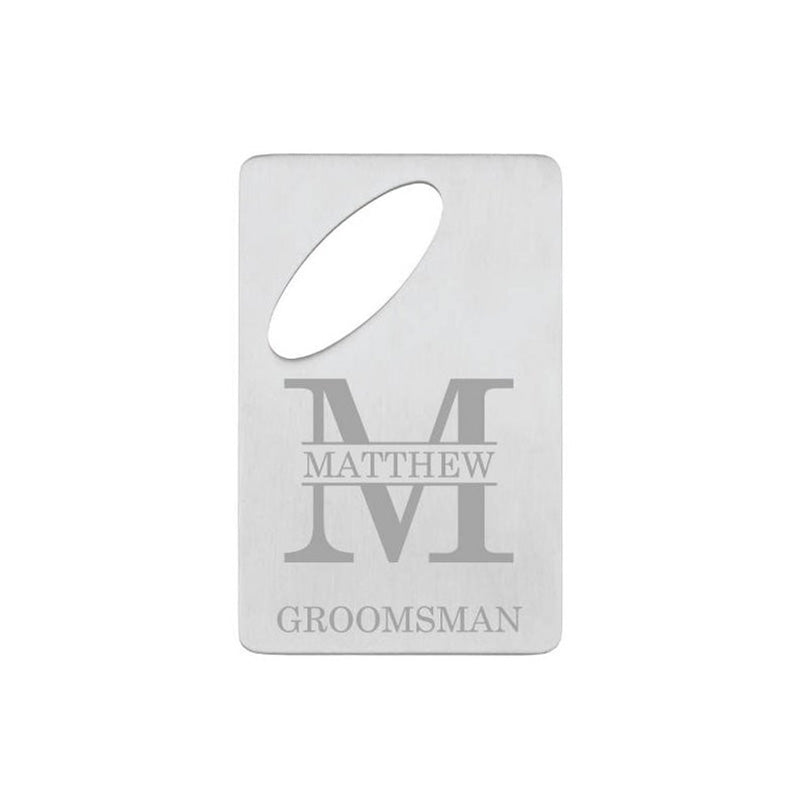 Groomsmen Gifts Engraved Card Bottle Opener Personalized Credit Card Bottle Opener Groomsmen Gift Bottle Opener - urweddinggifts