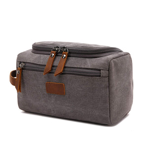Groomsmen Gifts Personalized Canvas Dopp Kit Monogrammed Toiletry Bag Best Man Gift - urweddinggifts
