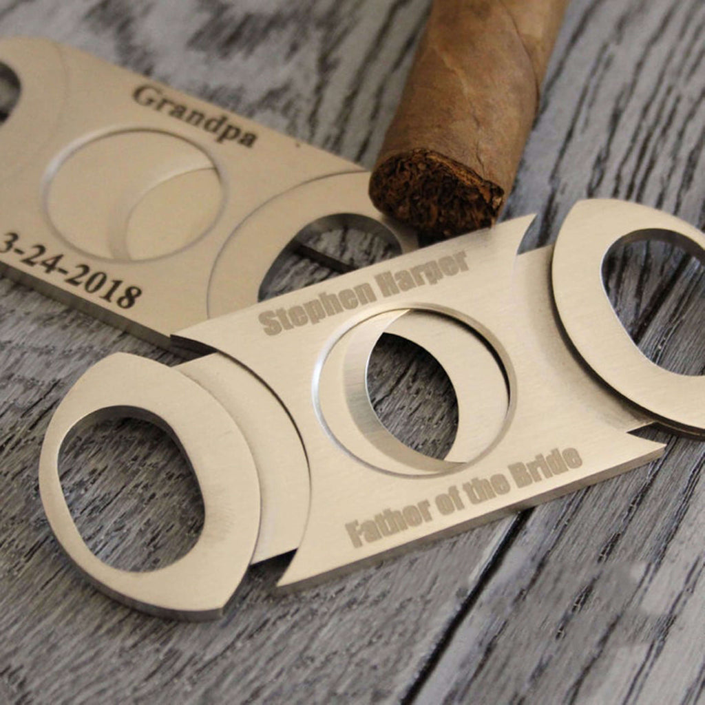 Groomsmen Gifts Personalized Cigar Cutter Engraved Cigar Cutter Groomsmen Cigar Cutter - urweddinggifts