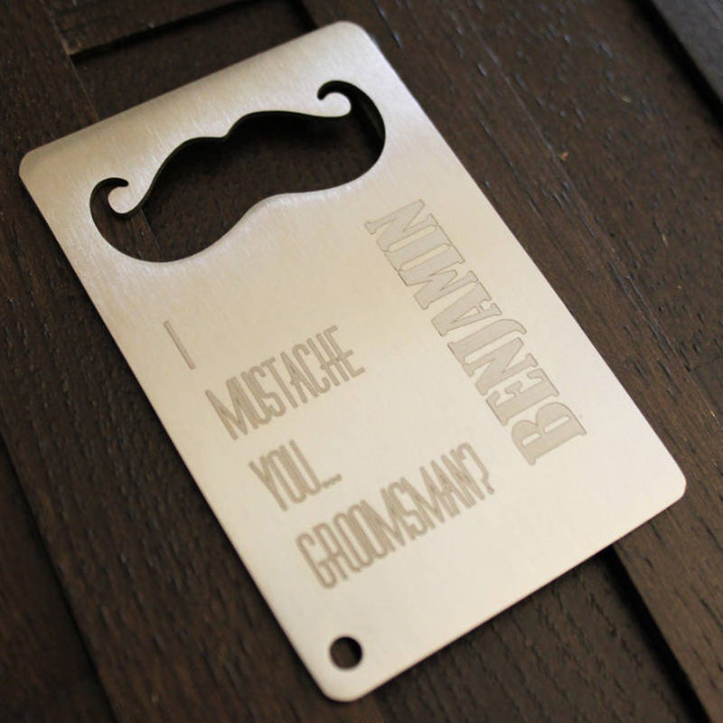 Groomsmen Gifts Personalized Credit Card Bottle Opener Groomsmen Card Bottle Opener Engraved Bottle Opener - urweddinggifts