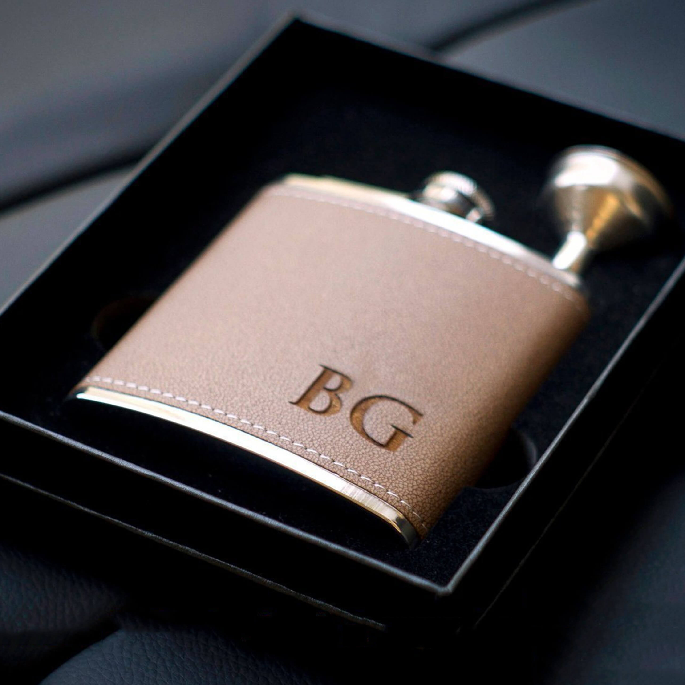 Groomsmen Gifts Personalized Groomsmen Flasks Monogram Flask Set Engraved Best Man Gift - urweddinggifts