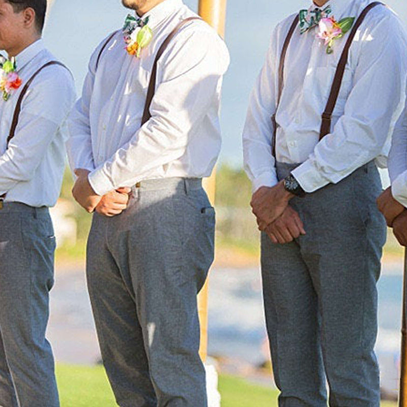 Groomsmen Gifts Personalized Leather Suspenders Custom Men Suspenders Wedding Suspenders Groomsmen Suspenders - urweddinggifts