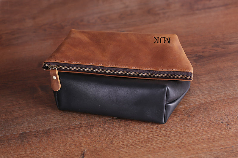 Groomsmen Gifts Personalized Leather Toiletry Bag Engraved Dopp Kit Monogrammed Toiletry Bag Best Man Gift - urweddinggifts