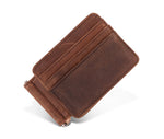 Groomsmen Gifts Personalized Mens Wallet RFID Leather Wallet Monogram Men Money Clip Leather Thin Minimalist Wallet - urweddinggifts