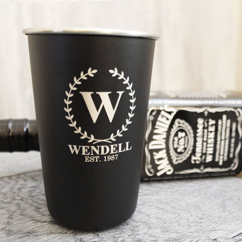 Groomsmen Gifts Personalized Stainless Steel Cups Engraved Pint Cups Stainless Steel Tumbler Groomsmen Tumblers - urweddinggifts