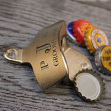 Groomsmen Gifts Personalized Wall Mounted Bottle Opener Engraved Bottle Opener Custom Beer Bottle Opener - urweddinggifts