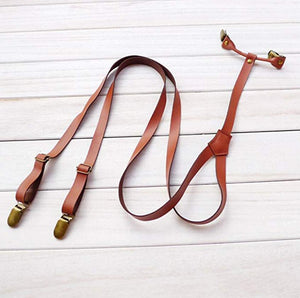 Groomsmen Gifts Wedding Suspenders Custom Leather Suspenders Mens Personalized Leather Suspenders - urweddinggifts