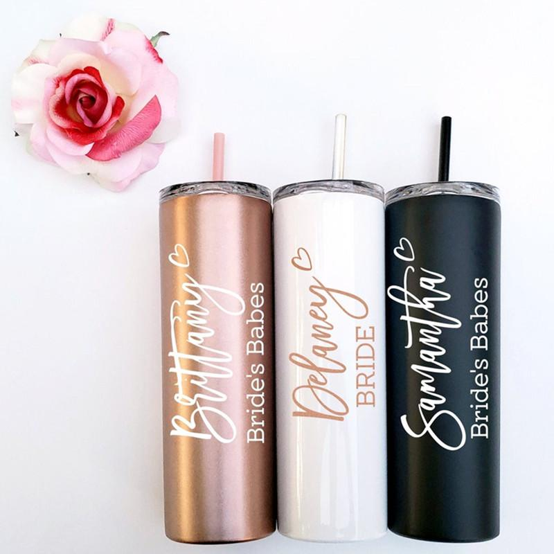 Bridesmaid gift, Custom Tumbler, Insulated Bridesmaid Tumbler, Gift for mom, Sorority Gift,Mother's Day gift, graduation gift - urweddinggifts