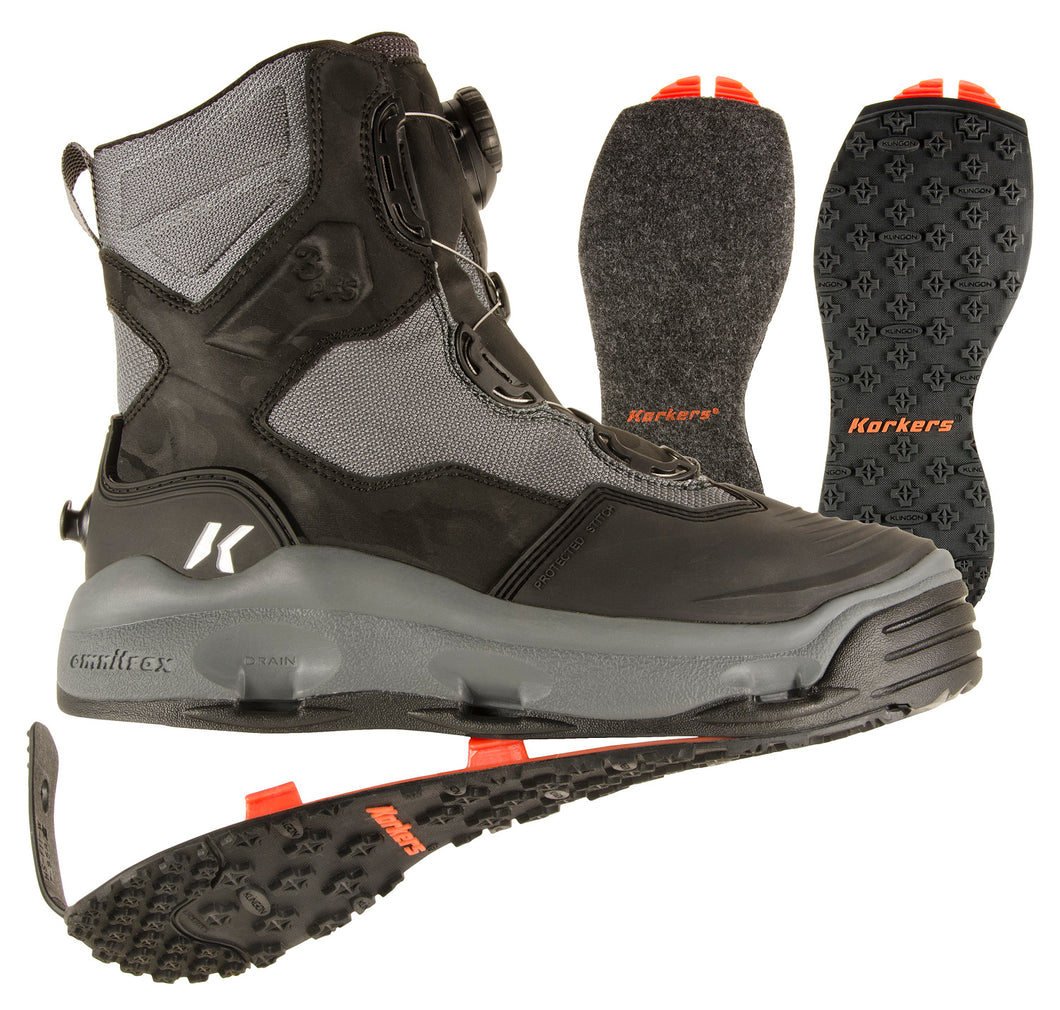 Korkers Darkhorse Wading Boot Kling-On & Felt Soles