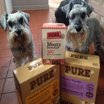 """MY TWO VERY FUSSY MINI SCHNAUZERS HAVE BEEN DINING ON PURE FOR A YEAR NOW AND WOULD NEVER GO BACK TO ANYTHING ELSE"""