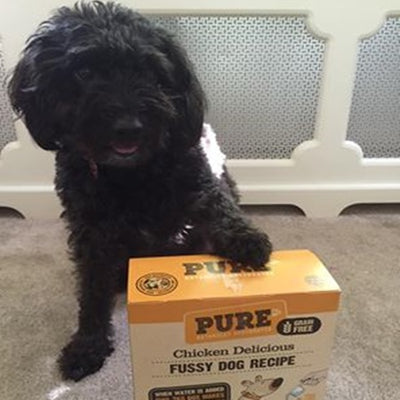"""WE HAVE NOW SWITCHED HER TO PURE AND SHE LOVES IT! THE STOMACH SENSITIVITY HAS ALSO STOPPED"""