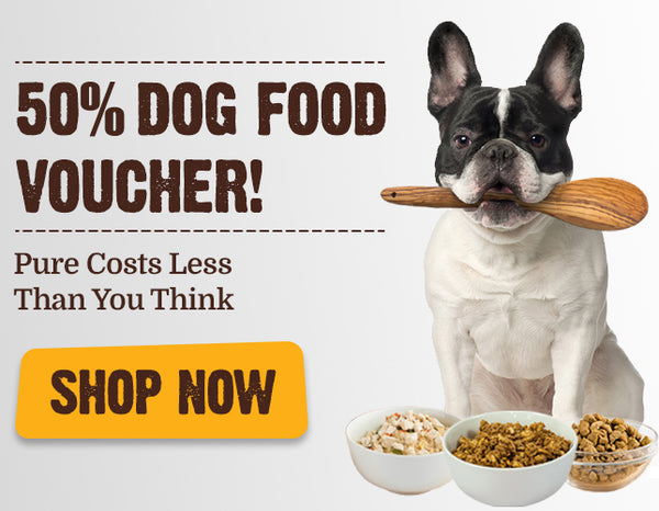 50% Dog Vouchers - Pure Costs Less Than You Thank