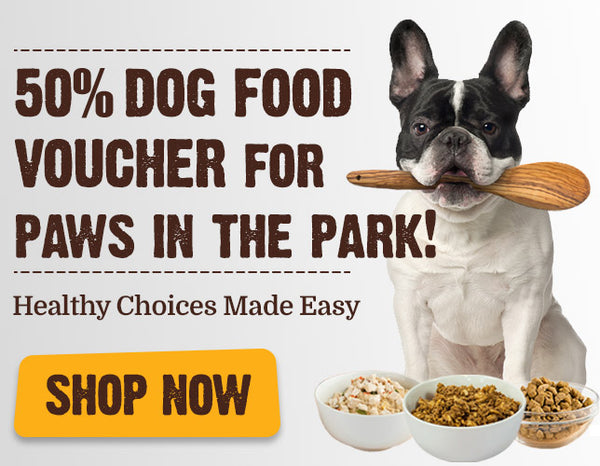 50% Dog Vouchers - SP3 Paws In The Park Healthy Choices Made Easy