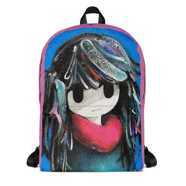 backpack school girl front